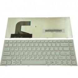 מקלדת לנייד סוני לבן מסגרת ורודה Sony VPC-S Pink Frame White Keyboard 148778921 / AEGD3U00040 / 9Z.N3VSQ.601 - 1 -