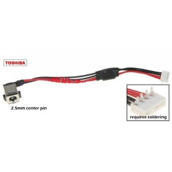 שקע טעינה למחשב נייד טושיבה PJ141 - 2.5MM TOSHIBA Satellite P200 X205 P205 Dc Jack With Cable K000048580 - 1 -