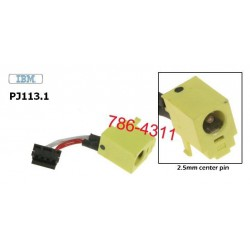 PJ113.1 - IBM Thinkpad T20, T21, T22, T23 dc jack with cable שקע טעינה למחשב נייד - 1 -