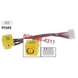 PJ103 - IBM Thinkpad R60, T60, Z60, T61, T500, W500 dc power jack החלפת שקע טעינה למחשב נייד - 1 -