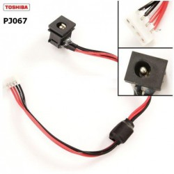 PJ067 - Toshiba Satellite L350D , L355D ,M70 DC Power Jack שקע טעינה לנייד טושיבה - 1 -