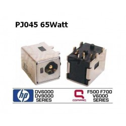 PJ045 - 65Watt HP DV6000 DV9000 Compaq V6000 F500 F700 DC JACK החלפת שקע טעינה לנייד - 1 -