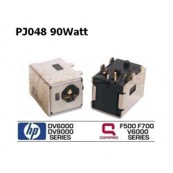 PJ048 - 90Watt HP DV6000 DV9000 Compaq V6000 F500 F700 DC JACK החלפת שקע טעינה לנייד - 1 -