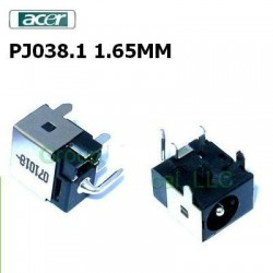 PJ038.1 - 1.65MM Acer Aspire One 2350 3100 3680 5070 7530G Dc Jack שקע טעינה לנייד - 1 -