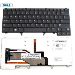 מקלדת מוארת כולל עכבר מובנה למחשב נייד דל Dell Latitude E6420 Black Backlit Nsk-DV0BC , PK130FN1B00 , 9Z.N5mbc.001 - 1 -