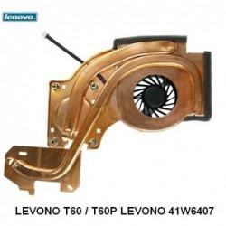 מעבדה לתיקון מחשב י.ב.מ - משווק מורשה - מאוורר למחשב נייד  IBM / Lenovo T60 T60P 41W6407 Fan Heatsink - 1 -
