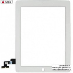 מסך מגע מקורי (דיגיטייזר - זכוכית) לאייפד 2 Original Black / White Touch Screen for iPad 2 - 1 -