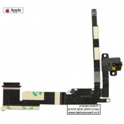 כבל אודיו ומתאם לחיבור סים עבור אייפד 2 - חלק מקורי Original Audio Jack Flex Cable with 3G Card Connector for iPad 2 WiFi + 3G -