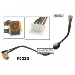 שקע טעינה למחשב נייד אייסר PJ233 - Acer Aspire 4230 4630 4330 Laptop Dc jack with cable - 1 -