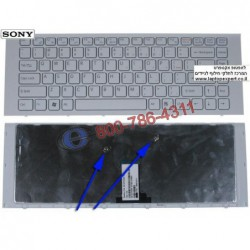 מקלדת למחשב נייד סוני Sony Vaio VPCEG / VPC-EG Laptop Keyboard 9Z.N7ASW.101 , 148970211 , 1-489-702-11 , 148981511 - 1 -