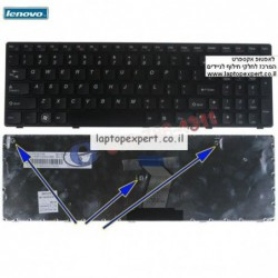 מקלדת למחשב נייד לנובו Lenovo Idaepad Z560 / Z560A / Z565A Keyboard , 25-010793 , V-117020AS1-Us - 1 -