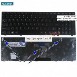מקלדת למחשב נייד לנובו Lenovo Idaepad Z560 / Z560A / Z565A Keyboard , 25-010793 , V-117020AS1-Us - 1 -