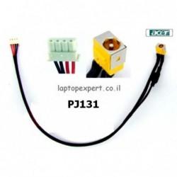 שקע טעינה למחשב נייד כולל כבל Acer Aspire  5251 5551 5551G 5741 DC Jack Cable Harness - PJ131 - 1 -