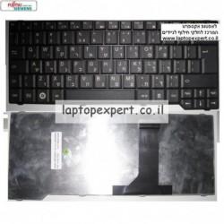 """מקלדת למחשב נייד כולל עברית פוגיטסו אמילו Fujitsu Amilo Sa3650 Si3655 3515 13.3"""" BLACK V080130AK1 90.4H807.S0T Laptop keyboard -"""