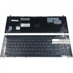 מקלדת למחשב נייד HP Probook 4720S Black with frame MP-09K13U4-4421 - 1 -