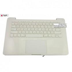"""מקלדת למחשב נייד אפל כולל תושבת ועכבר Apple MacBook  13.3"""" A1342 MB061 MB063 Trackpad Top Case Palmrest - 1 -"""