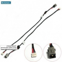 שקע טעינה למחשב נייד לנובו Lenovo G575 G580 dc power jack plug harness cable DC301009S00 DC Power Jack With Cable DW368 - 1 -