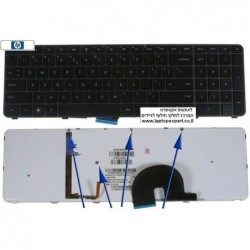 מקלדת למחשב נייד - מוארת HP Envy 17 Laptop Keyboard - 610914-001 / 610914-B31 - AESP8R00010 , 9Z.N4DBQ.11D - 1 -