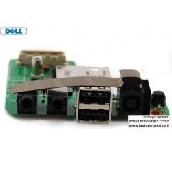 כרטיס שקע טעינה למחשב נייד דל כולל יציאות USB ו SOUND / Dell E5400 DC Jack USB Audio / Sound Board 48.4X704.011 - 1 -