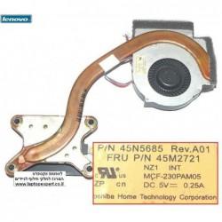 מאוורר למחשב נייד י.ב.מ / לנובו IBM Thinkpad T410 T410i 45M2721/ 45N5685 Integrated Fan Assembly - 1 -