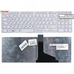 מקלדת לבנה להחלפה במחשב נייד טושיבה Toshiba Satellite C850, L850, L855,  L870,  L875, White Keyboard NSK-TV1SU , 9Z.N7USU.10H -