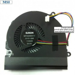 מאוורר למחשב נייד MSI CR640 MS-16Y1 CPU Cooling Fan - 13N0-XXA0B12 - 1 -