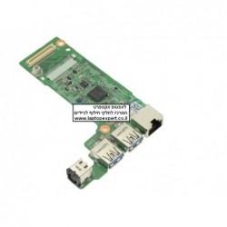 כרטיס שקע טעינה לנייד דל כולל יציאות יו.אס.בי Dell Vostro 3350 DC Power Jack / USB / RJ-45 IO Circuit Board - No WWAN - 4V26W -
