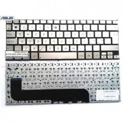 מקלדת לנייד אסוס זנבוק צבע כסוף Asus Zenbook UX21 UX21E series UK Silver MP-11A96GB6528 - 1 -