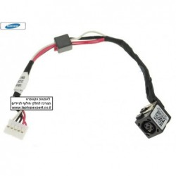 שקע טעינה למחשב נייד דל Dell Inspiron 5721 , 3521 , 2521 , 3721 , 3737 , 5737 DC30100M800 AC DC POWER JACK HARNESS PLUG CABLE -