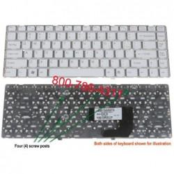 מקלדת למחשב נייד סוני - מתמחים בתיקון ניידים SONY VGN NW White Keyboard 9J.N0U82.A01 / 148738321 /  148738521 / 1-487-385-21 - 1