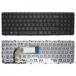 מקלדת למחשב נייד HP 250 G3 , 255 G3, 256 G3 keyboard black NO Frame- UK English - 1 -