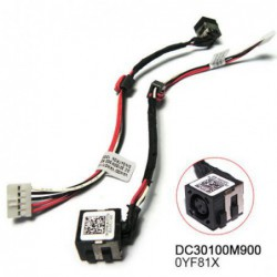 החלפת כניסת מתח שקע טעינה למחשב נייד דל DELL INSPIRON 2521 3521 5521 DC30100M800 DC JACK - 1 -