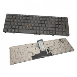 מקלדת למחשב נייד HP EliteBook 8760P 8760w 8770w Series Back-lit Keyboard 701454-001 US - 1 -