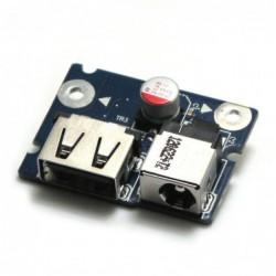 כרטיס שקע טעינה למחשב נייד לנובו G480 DC-IN Connector Power Jack USB Port Board - 1 -