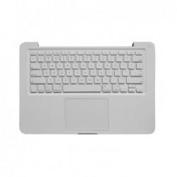 מקלדת לאפל מקבוק לבן כולל פלסטיק עליון וטאץ פד A1342 Top case with keyboard for MacBook 13'' Unibody 2009-2010 (with trackpad) -