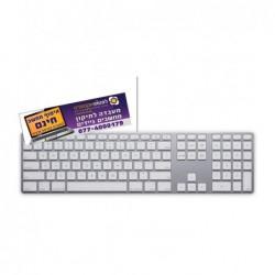 מקלדת יד שניה אפל אלומניום חוטית למחשב מקבוק , איימק Apple iMac Wired A1243 Aluminum Keyboard Key - 1 -