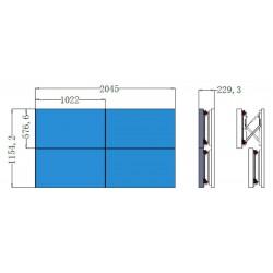 קיר וידאו 4 מסכים פאנל חברת סמסונג כולל מתקן התקנה הידרואלי DID 46 intch Video Wall Led Screen - 2 -