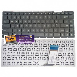 מקלדת אסוס למחשב נייד כולל עברית Asus X451 X451C X451CA X451M X451MA X451MAV US Black Keyboard - 1 -