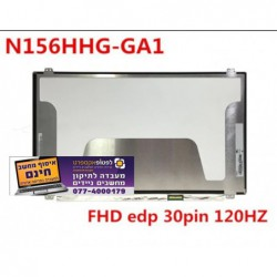 "מסך להחלפה במחשב נייד LCD Screen 15.6"" 3D N156HHE-GA1 N156HHE GA1 1080P EDP 30pin 120HZ HD Screen - 1 -"