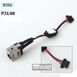 שקע טעינה לנייד PJ148 - Acer Aspire One 532H NAV50 Dc Jack With Cable - 50.SAS02.002 - 1 -