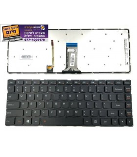 מקלדת למחשב נייד לנובו Lenovo Ideapad 100S-14IBR 300S-14ISK 500-14ISK Keyboard Backlit US - 1 -