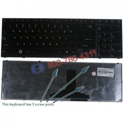 מקלדת למחשב נייד טושיבה Toshiba Satellite A660 A650 Laptop Keyboard 9Z.N4YGC.001 , NSK-TQ0GC - 1 -
