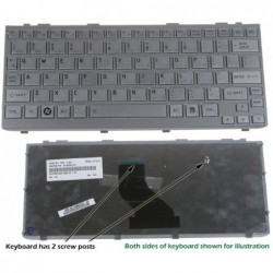 מקלדת למחשב נייד טושיבה Toshiba Netbook Mini NB305 Keyboard 9Z.N2P82.201 , PK130BH1A00 - 1 -