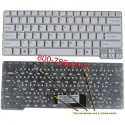 מקלדת למחשב נייד סוני Sony VGN-CW Laptop Keyboard 148755521 / 9J.N0Q82.B01 / NSK-S7A01 - 2 -
